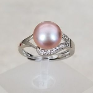 Sterling Silver 9mm Lavender Freshwater Pearl Ring
